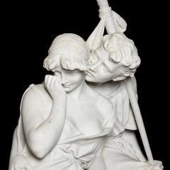 Antonio Frilli Large marble sculpture of an amorous couple by Antonio Frilli - 1683197