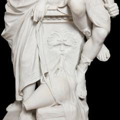 Antonio Frilli Large marble sculpture of an amorous couple by Antonio Frilli - 1683199