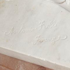 Antonio Frilli Large marble sculpture of an amorous couple by Antonio Frilli - 1683209