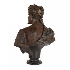 Antonio Giuseppe Garella Pair of bronze busts of Othello and Desdemona by Garella - 1569756