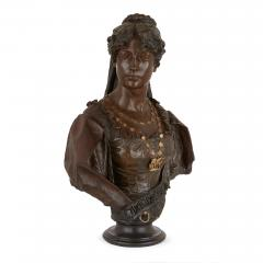 Antonio Giuseppe Garella Pair of bronze busts of Othello and Desdemona by Garella - 1569762