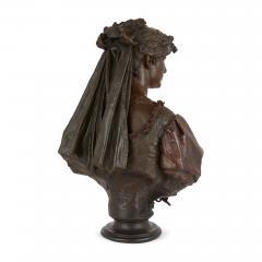 Antonio Giuseppe Garella Pair of bronze busts of Othello and Desdemona by Garella - 1569763