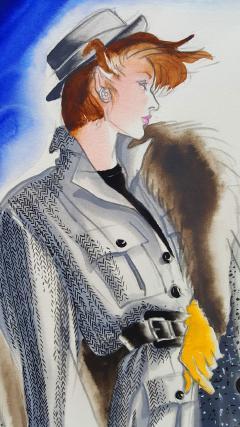 Antonio Lopez Vogue Magazine Fashion Illustration Adel Simpson 1984 - 328641