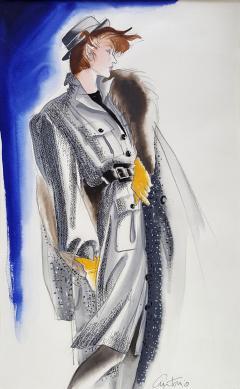 Antonio Lopez Vogue Magazine Fashion Illustration Adel Simpson 1984 - 328642