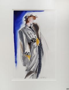Antonio Lopez Vogue Magazine Fashion Illustration Adel Simpson 1984 - 328645