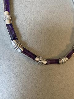 Antonio Pineda Antonio Pineda Sterling Silver and Amethyst Necklace - 1984976