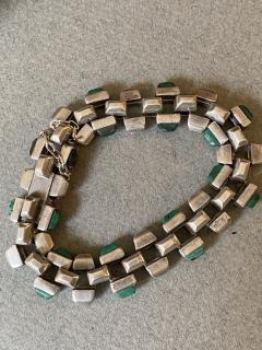 Antonio Pineda Antonio Pineda Sterling Silver and Malachite Bracelet - 1985010