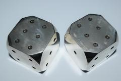 Antonio Pineda Dice Salt and Peppers Sterling Silver Taxco - 986997