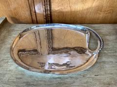 Antonio Pineda Mexican Modernist Silver Tray by Antonio Pineda - 1310001