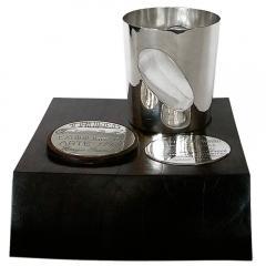 Antonio Pineda Unique Silver Ebony Trophy by Antonio Pineda 1968 - 180968
