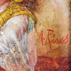 Antonio Rivas A Fine Orientalist Painting Depicting a Sultan s Concubine in the Harem - 1471688