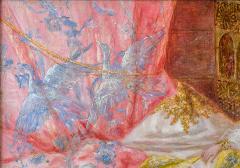 Antonio Rivas A Fine Orientalist Painting Depicting a Sultan s Concubine in the Harem - 1471689