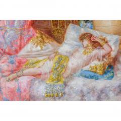 Antonio Rivas A Fine Orientalist Painting Depicting a Sultan s Concubine in the Harem - 1471690