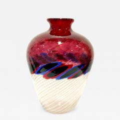 Anzolo Fuga Anzolo Fuga Exceptional Hand Blown Glass Vase with Glass Fragments 1960s - 928292