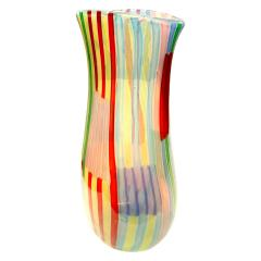 Anzolo Fuga Anzolo Fuga Rare Bandiere Vase with Multicolor Rods 1955 58 - 407735