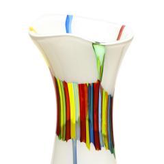 Anzolo Fuga Anzolo Fuga Vase with Multicolor Rods ca 1955 - 2070329