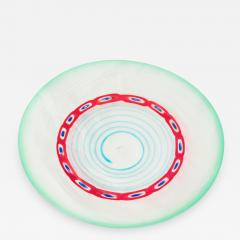 Anzolo Fuga Exceptional Large Hand Blown Glass Charger by Anzolo Fuga - 202923