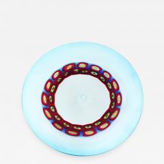 Anzolo Fuga Exceptional Large Hand Blown Glass Charger by Anzolo Fuga for A V E M  - 202925