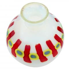 Anzolo Fuga Hand Blown Glass Murrine Incatenate Vase by Anzolo Fuga for A V E M  - 202375