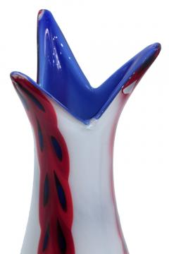 Anzolo Fuga Hand Blown Glass Vase with Overlayed Murrine by Anzolo Fuga for A V E M  - 202226