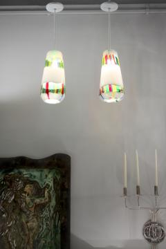 Anzolo Fuga Pair of Hand Blown Glass Bandiere Pendants by Anzolo Fuga - 189202