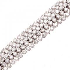 Approximately 24 Carat Diamond Gold Bracelet - 418021