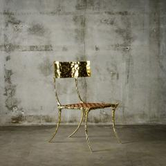 Aqua Klismos Brass Chairs - 648173