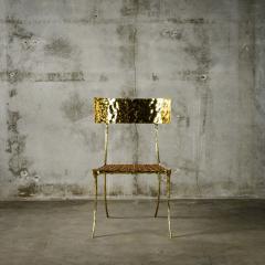 Aqua Klismos Brass Chairs - 648174