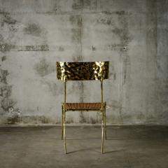 Aqua Klismos Brass Chairs - 648177