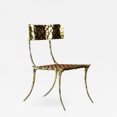 Aqua Klismos Brass Chairs - 648989
