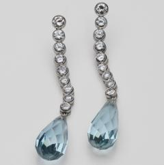 Aquamaine Diamond Earrings 18kt - 1519542