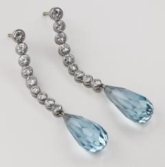 Aquamaine Diamond Earrings 18kt - 1519544
