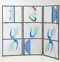 Arberto Toini Italian Murano glass screen by Alberto Toini - 1203319