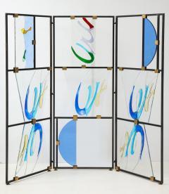 Arberto Toini Italian Murano glass screen by Alberto Toini - 1203320