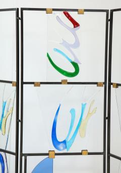 Arberto Toini Italian Murano glass screen by Alberto Toini - 1203325