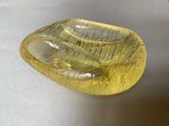 Archimede Seguso Archimede Seguso Bowl Ashtray In Yellow Glass Murano Italy 1950s - 1989219