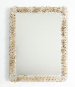 Archimede Seguso Hand Blown Murano Glass 1950s Wall Mirror - 1833481