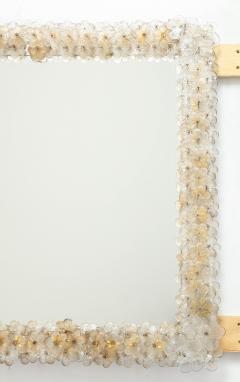 Archimede Seguso Hand Blown Murano Glass 1950s Wall Mirror - 1833486