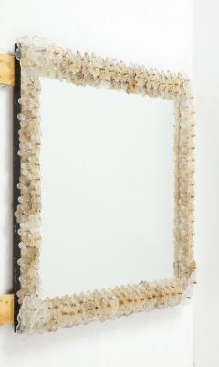 Archimede Seguso Hand Blown Murano Glass 1950s Wall Mirror - 1833488