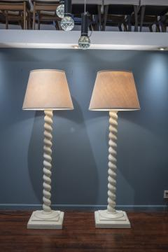 Architectural Plaster Floor Lamps after Michael Taylor - 1876181