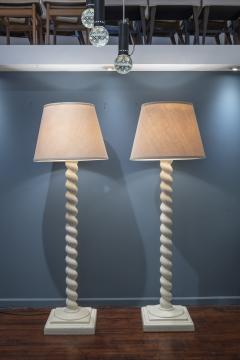 Architectural Plaster Floor Lamps after Michael Taylor - 1876182