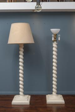 Architectural Plaster Floor Lamps after Michael Taylor - 1876189