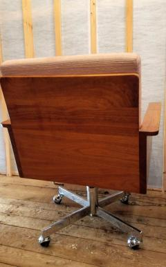 Arden Riddle Arden Riddle 8 Rolling Armchairs Swivel Adjustable Walnut Studio 1973 - 1679423
