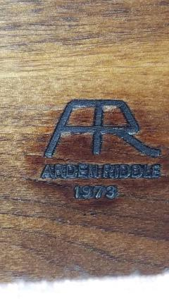 Arden Riddle Arden Riddle 8 Rolling Armchairs Swivel Adjustable Walnut Studio 1973 - 1679424