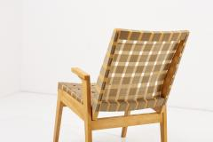 Arden Riddle Lounge or Arm Chair in Dark Beige Webbing by Arden Riddle US 1950s - 2118145