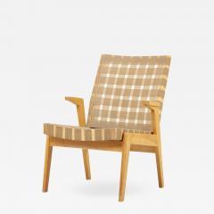Arden Riddle Lounge or Arm Chair in Dark Beige Webbing by Arden Riddle US 1950s - 2119729