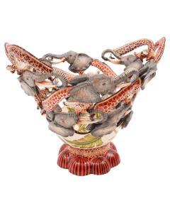 Ardmore Ceramic Art Elephant And Giraffe Bowl - 1648710