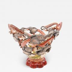 Ardmore Ceramic Art Elephant And Giraffe Bowl - 1650198