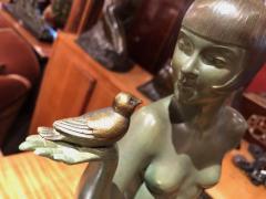 Armand Godard Art Deco Sculpture A Bird in the Hand by Armand Godard - 1386973
