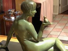 Armand Godard Art Deco Sculpture A Bird in the Hand by Armand Godard - 1386981